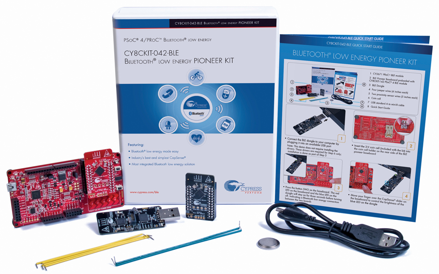 Cypress Bluetooth Low Energy Pioneer kit