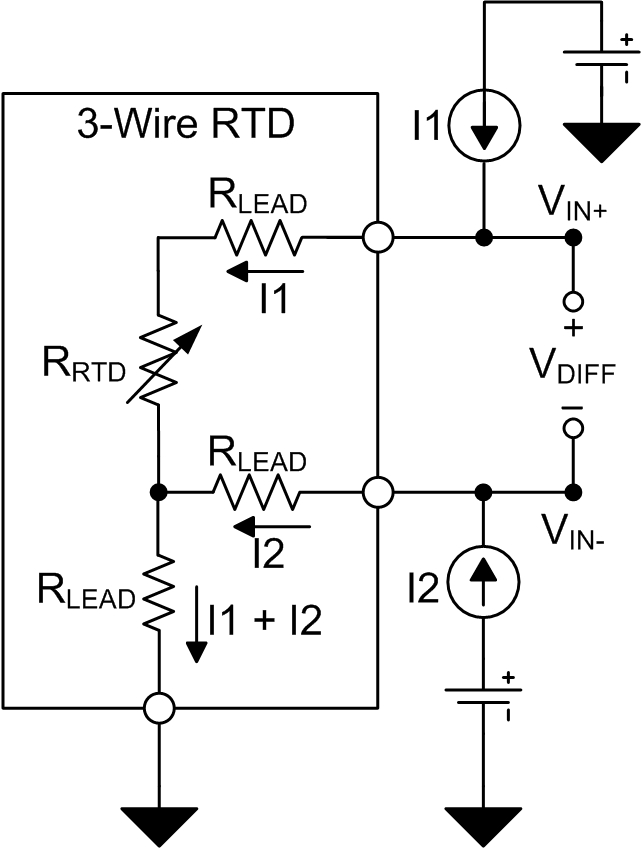 excitation current mismatch effects in three wire rtd measurement figure 2 three wire rtd lead resistance