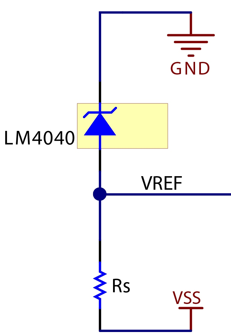 Shunt Versus Series How To Select A Voltage Reference Topology Above Circuit Diagram For Diode Matrix Showing Wiring References Figure 5 Negative