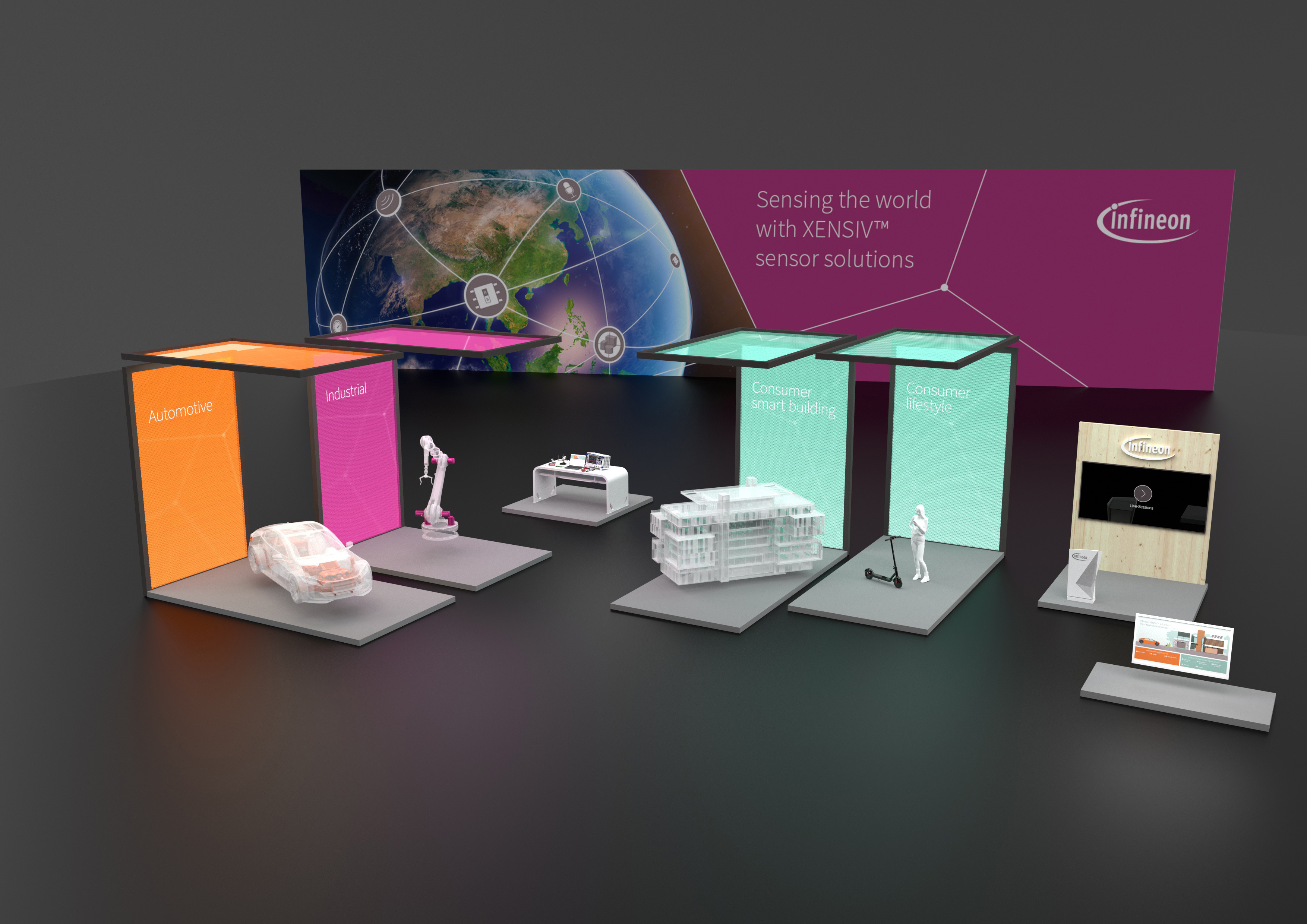 Virtual Sensor Experience Infineon S Digital Sensor Booth With Live Presentations From July 20 To 2