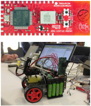 The WICED wireless development system was one of the building block platforms used in the IoT World Hackathon